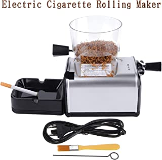 Vanell 8MM Tube Electric Cigarette Rolling Maker Automatic Cigarette Injector Machine with Tobacco Hopper King Size Pipe Tobacco Rolling Machine, for Dried Cut Tobacco