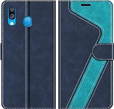 MOBESV Custodia Samsung Galaxy A40, Cover a Libro Samsung Galaxy A40, Custodia in Pelle Samsung Galaxy A40 Magnetica Cover per Samsung Galaxy A40, Elegante Blu