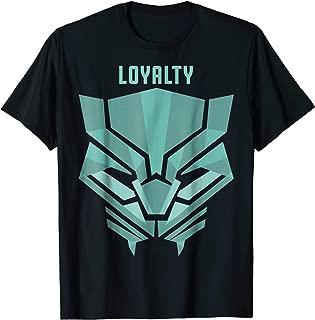 Black Panther Teal Loyalty Logo Graphic T-Shirt