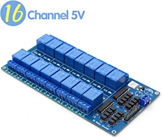 Riorand 16 Channel Relay Module,5V Control Board with Optocoupler Protection with LM2596 Power Supply