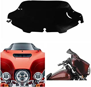 INNOGLOW Motorcycle ABS Windscreen Windsheild Fit for 1996 1997 1998 1999 2000 2001 2002 2003 2004 2005 2006 2007 2008 2009 2010 2011 2012 2013 Harley Electra Street Glide Touring Bike(8 inch)