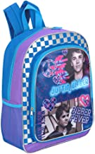 Justin Bieber 16 Inch Peace and Love Backpack - Purple and Blue