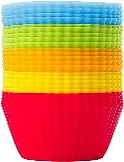 GOURMEO Lot de 25 caissettes cupcake - Petites caissette patisserie réutilisable - Caissette muffins réutilisable - Moule ...