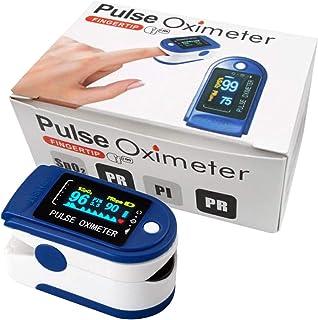Eurocali Saturimetro Ossimetro Pulsossimetro da Dito Monitor di Saturazione Ossigeno nel Sangue con PR (Frequenza del Pols...