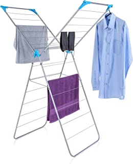 Minky Homecare Drying Rack, X Wing, Silver