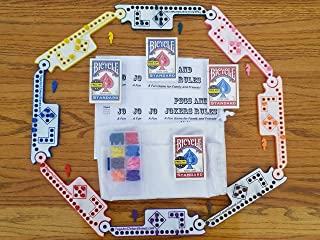 Pegs and Jokers Travel Size Compact Game Set (2-8 Players)