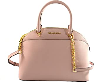072cc21e0f Michael Kors Emmy Large Dome Saffiano Leather Satchel Shoulder Bag Purse  Handbag
