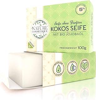 Seife Jojoba Naturrein - Handseife aus Kokosöl & Jojobaöl vegan und ohne Palmöl und ohne Parabene - 5% rückfettend