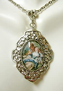 Lovers' tryst by François Boucher pendant and chain - RAP26-301