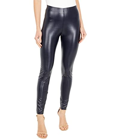 HUE Leatherette High-Rise Leggings (Navy) Women