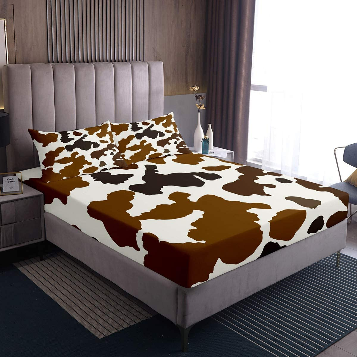 Castle Fairy Brown Cow 35% OFF Surface Print Duvet Sheet Pocket Deep Safety and trust Twi