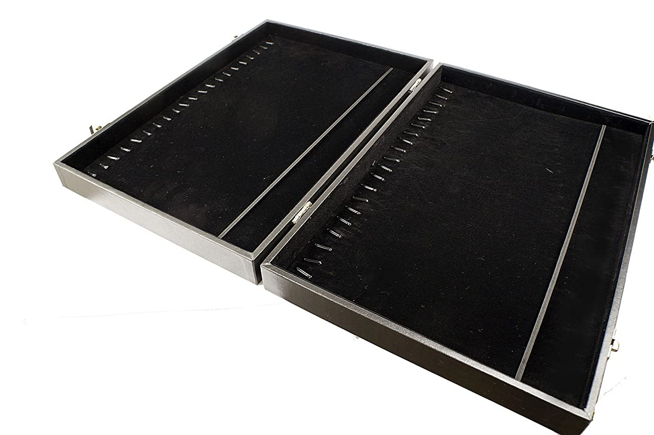 Black Protable Travel Display Storage Box Case for Bracelet n Necklace Jewelry