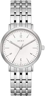 Women's Quartz Stainless Steel Casual Watch, Color:Silver-Toned (Model: NY2502)