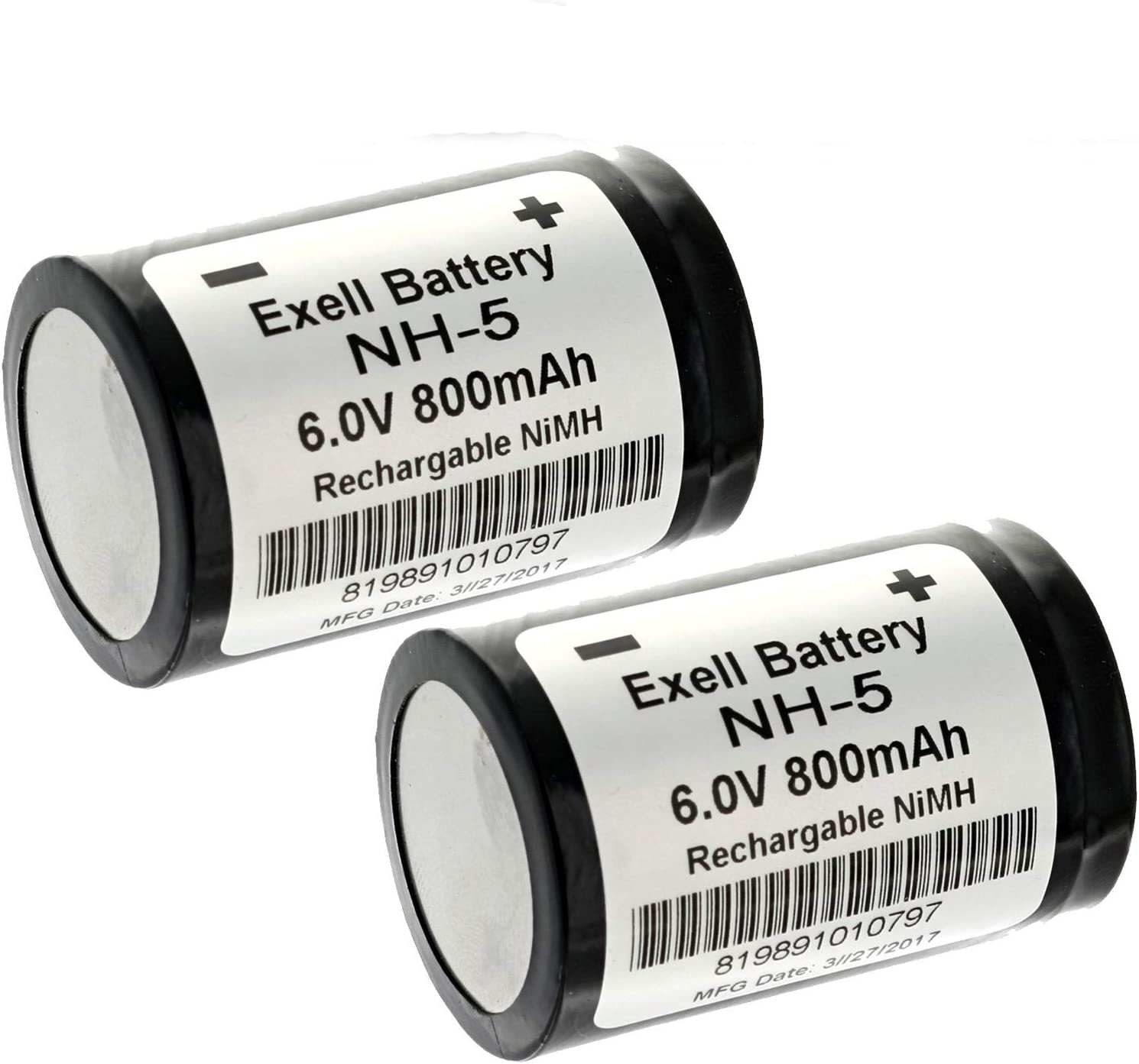 2pc Rechargeable NH5 6V NiMH Battery for Hasselblad 500 EL 00 ELM (500 EL/M)