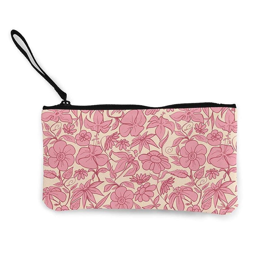 それら眠っている助けてErmiCo レディース 小銭入れ キャンバス財布 ピンク?多種多様 小遣い財布 財布 鍵 小物 充電器 収納 長財布 ファスナー付き 22×12cm