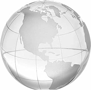 Amlong Crystal 4 inch Globe Paperweight with Gift Box