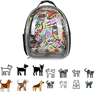 JELLY SIGHT JS Pet Carrier, Hard-Sided Pet Bag, Cat/Dog Bubble Backpack, Pet Travel Bag, Small Space Pet Capsule Knapsack,...