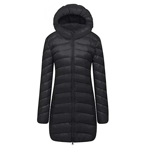 CATERTO Women Ultra Light Down Packable Hooded Coat