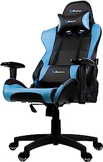 Arozzi - Verona V2 sedia da Gaming, Nero Blu, 50 x 55 x 130