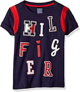 Tommy Hilfiger Girls' Adaptive T Shirt with Adjustable Shoulder Closure