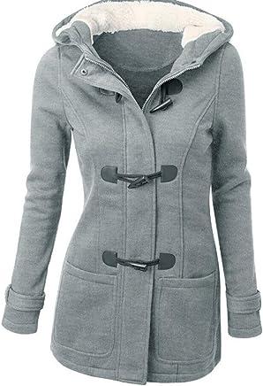 4ed0ab0a292 Clearance! Fashion Women Horns Windbreaker Pocket Warm Wool Slim Long Coat  Jacket Trench Outwear