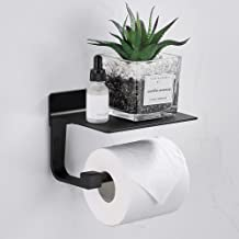 Gricol Toiletpapierhouder zonder boren zelfklevende toiletpapierhouder van aluminium papierhouder met legplank voor keuken...