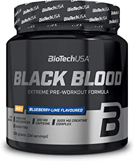 BioTechUSA Black Blood NOX+, Radical pre-workout formula with an extreme NOX complex, 150 mg caffeine, as well as creatine...