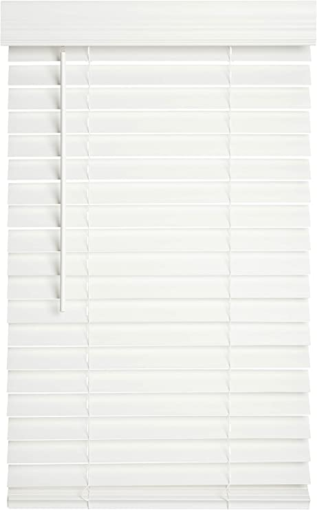 Lotus /& Windoware Premium 2-Inch Faux Wood Blind White 29 by 54-Inch