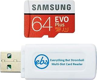 Samsung 64 GB Micro SDXC EVO Plus Speicherkarte mit Adapter funktioniert mit Samsung Galaxy S7, Tab S7+ Tablet, A21s Smartphone (MB MC64HA) Bundle mit (1) Everything But Stromboli SD, TF Kartenleser