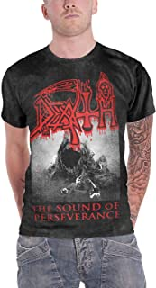 T Shirt The Sound of Perseverance Band Logo Official Mens Black Size XL