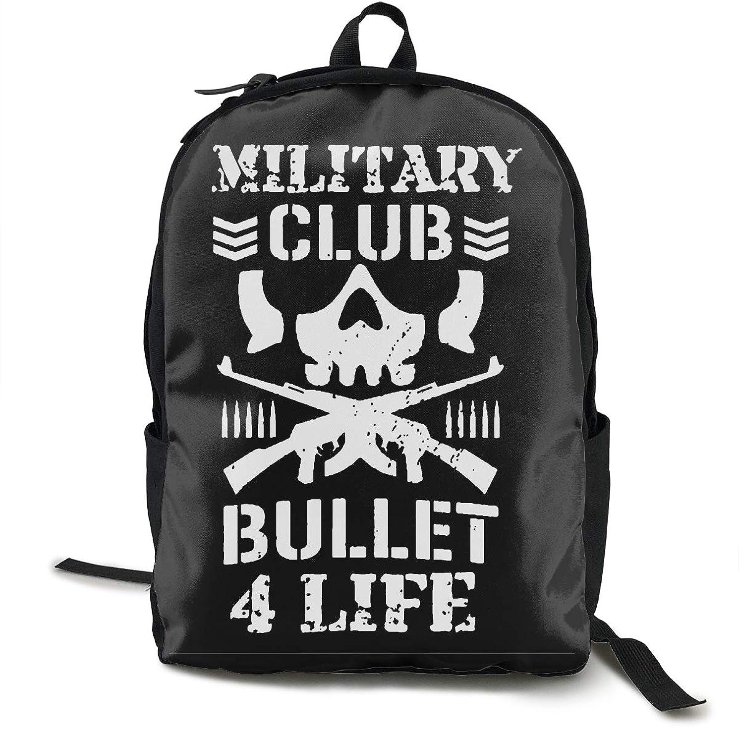 Bullet Club Kenny Omega Grunt Style Backpacks Waterproof Shoulder Bags Laptop School Travel Large Bag for Men Women Black