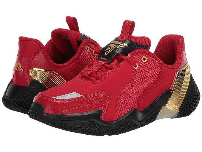 adidas Kids  4uture Rnr (Big Kid) (Scarlet/Gold Metallic/Black) Boys Shoes