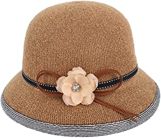 ZiWen Lu Hat Summer New line Gauze hat Refreshing Breathable Straw hat Out Outdoor Sun hat (Color : Brown, Size : M56-58cm)