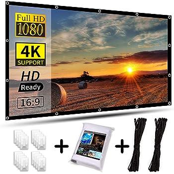 Schermo per Proiettore Portatile HD pollici Schermo di Proiezione di visione Installazione Rapida per Film Casa e Ufficio