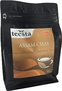 TEESTA - Premium CTC Assam Black Tea | 250gm/8.82oz/125cups | High Energy, Bold, Full Bodied Teas | Premium 100% Unblended Assam Chai Loose Leaf | Great for Morning Milk Tea, Cold Brewed Tea