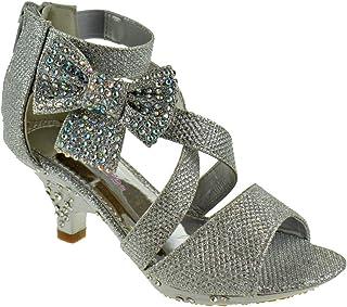 c97d1eddb2a77f Belle Marie Ponce 10 Little Girls Glitter Rhinestone Heeled Dress Sandals