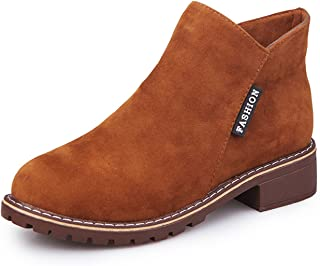 Desirca Women Martin Boots Autumn Winter Boots Classic Zipper Ankle Boots Suede Warm Plush Women Shoes