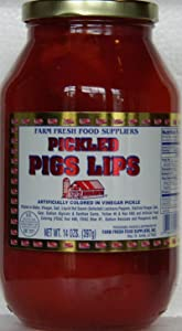 Farm Fresh Food Suppliers: Pickled Pigs Lips, 14 Oz