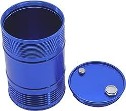 LAFEINA Metal Oil Drum Fuel Tank Container for 1/10 RC4WD D90 SCX10 Rock Crawler RC Car Decor Accessories (Blue)