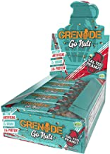 Grenade Carb Killa Go Nuts Vegan Nut Bar | 10g High Protein Snack | Low Net Carb Low Sugar | Non-GMO Gluten Free Energy Ba...