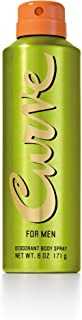 Curve for Men Deodorant Body Spray 6.0 OZ
