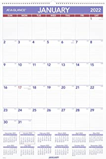 """2022 Wall Calendar by AT-A-GLANCE, 20"""" x 30"""", Extra Large, Monthly (PM428)"""