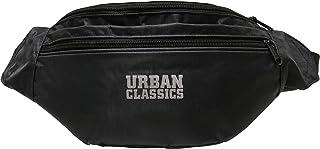 Urban Classics Sac Banane Unisexe en Polyester recyclé avec 2 Compartiments, Tissu côtelé recyclé, Double Fermeture éclair...