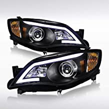Autozensation For Subaru Impreza WRX Outback Sport LED Black Projector Headlights