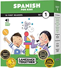Spanish for Kids: 10 First Reader Books with Online Audio and 100 Words (Beginning to Learn Spanish) Set 1 by Language Tog...