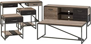 Bush Furniture Refinery 60W TV Stand with Console, Coffee End Tables, Rustic Gray