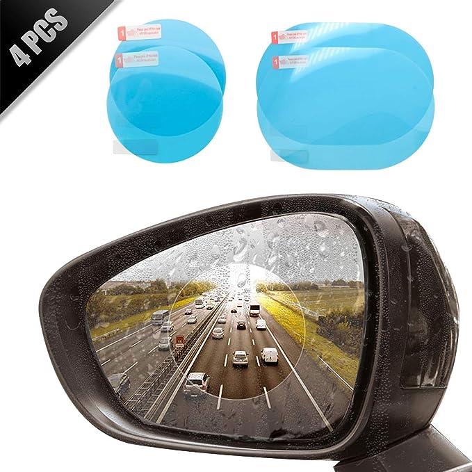 Maso 4 Pcs Auto Rückspiegel Wasserdicht Schutzfolie Transparent Folie Regendicht Blendschutz Anti Fleck Auto
