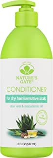 Nature's Gate Aloe Vera Moisturizing Conditioner for Normal to Dry Hair, 18 Ounce (Pack of 4)