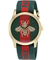 Gucci - Nylon Dial with Embroidered Strap with