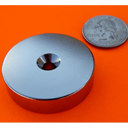 """Super Strong Neodymium Magnet N42 1.5 x 3/8"""" w/Countersunk Hole Disc, The World's Strongest & Most Powerful Rare Earth Magnets by Applied Magnets 1Pc"""